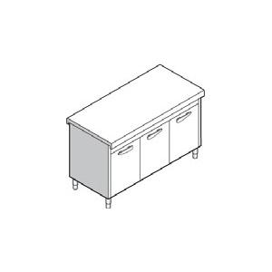Прилавок раздаточный нейтральный, L1.50м, стенд закрытый, двери распашные, нерж.сталь
