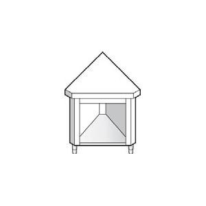 Элемент угловой, L0.80м, 45 град. внутренний, нерж.сталь