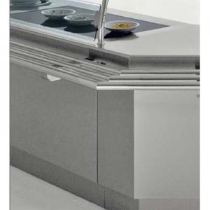 Прилавок раздаточный, L1.13м, поверхность тепловая стеклокерамическая, стенд полузакрытый без двери, нерж.сталь