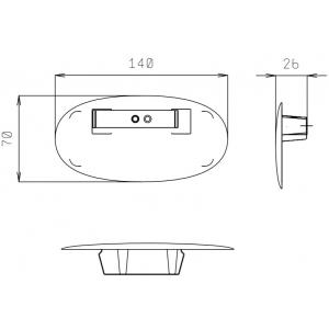 Заглушка для прилавков серии Self-service без верхних структур, нерж.сталь, комплект 2шт.