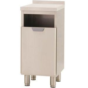 Модуль барный нейтральный для мусора,  400х550х850мм, борт H40мм, 1 ящик выдв., ножки, нерж.сталь