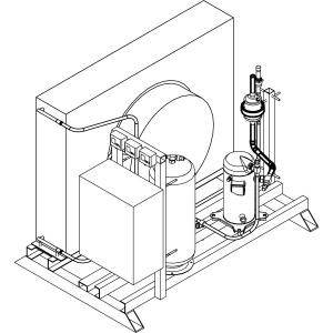 Агрегат холодильный д/камеры шок. охл. BC/BF24-100SH (Skycold), ул.