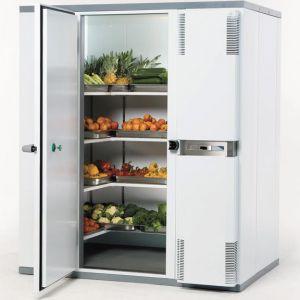 Камера холодильная замковая,   4.80м3, h2.10м, 1 дверь расп.левая, ППУ80мм, правый моноблок (-2/+5С)