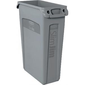 Контейнер для мусора SLIM JIM 87,1л с вентиляционной системой, полиэтилен серый