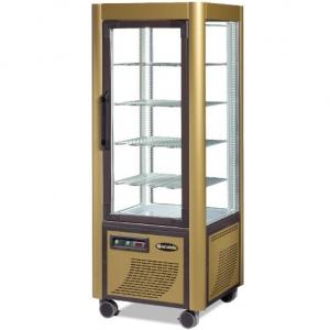 Витрина морозильная напольная, вертикальная, L0.70м, 4 полки, -5/-20С, стат.охл., золотая, 4-х стороннее остекление