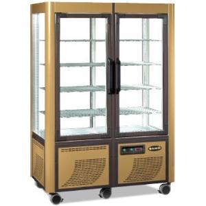Витрина морозильная напольная, вертикальная, L1.27м, 8 полок -5/-20С, стат.охл., золотая, 4-х стороннее остекление