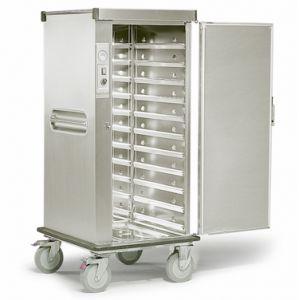 Шкаф тепловой, 11GN2/1, 1 дверь распашная глухая, +30/+100С, нерж.сталь, 220V, колеса, электрон.упр.,