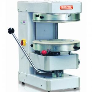 Пресс для пиццы электрический настольный, D500мм, прессование ручное, без борта, без подпекания, нерж.сталь, поверхность верхняя фиксированная