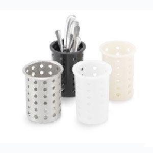 Стакан для столовых приборов D 9,5см h 14,3см белый, пластик