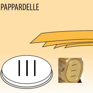Матрица латунно-бронзовая для аппарата для макаронных изделий MPF 2.5N и MPF 4N (D57мм), pappardelle (лапша плоская яичная), 16мм