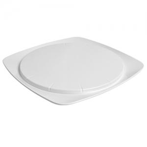 Блюдо для торта D 30см h 2см, пластик белый