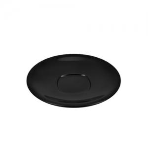 Блюдце VERSA D 12см h 1,5см, пластик черный матовый