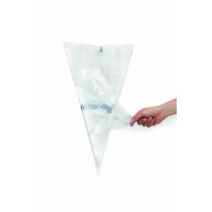 Мешок кондитерский L 46см одноразовый (25шт), полиэтилен прозрачный