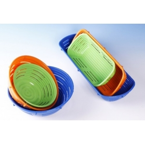 Форма для расстойки хлеба D 22см, пластик оранжевый