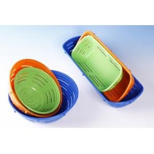Форма для расстойки хлеба L 37см w 14.5см овальная, пластик оранжевый