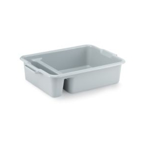 Контейнер для столовых приборов L 58,4см w 44,5см h 15,2см с 2-мя отсеками серый, пластик