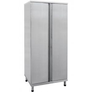 Шкаф кухонный для хлеба,  820х560х1800мм, 2 двери распашные, 7 пар направляющих, нерж.сталь, разборный, для 7 лотков 465х740х71мм