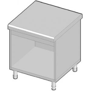 Прилавок раздаточный нейтральный, L0.75м, стенд полузакрытый без двери, нерж.сталь