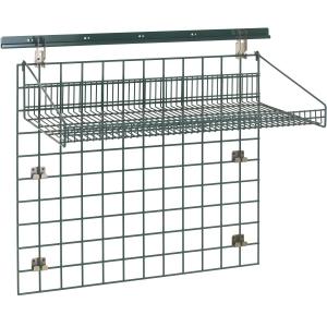 Система хранения настенная: 1 решётка, 1 полка-решётка, 1 планка, кронштейны, сталь с покрытием Metroseal3-Microban, для влажных помещений