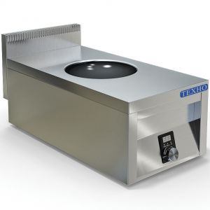 Плита индукционная WOK, 1 конфорка 1х6.0кВт, настольная, борт, 400х760х300мм