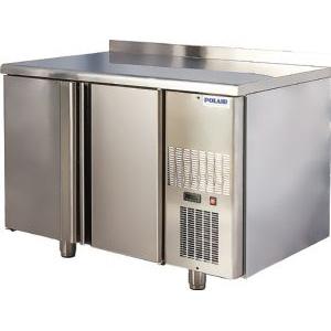 Стол холодильный, GN1/1, L1.20м, борт H60мм, 2 двери глухие, ножки, -2/+10С, нерж.сталь, дин.охл., арегат справа