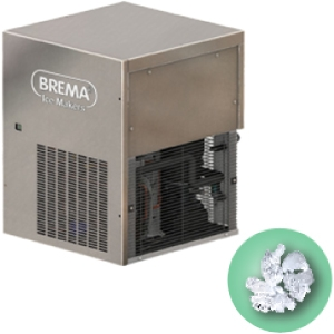 Льдогенератор для гранулированного льда,  510кг/сут, без бункера, вод.охлаждение, корпус нерж.сталь