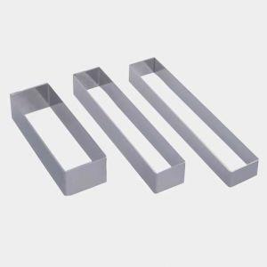 Кольцо (форма) ПРЯМОУГОЛЬНИК L 18,4см w 3,3см h 2см, нерж.сталь