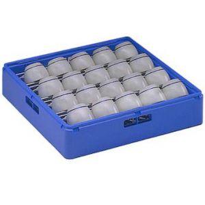 Корзина посудомоечная для чашек, 500х500мм, пластик синий, вместимость 24 штуки