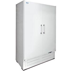 Шкаф комбинированный, 1000л, 2 двери глухие, 8 полок, ножки, 0/+7С и -18С, дин.охл., белый, агрегат нижинй