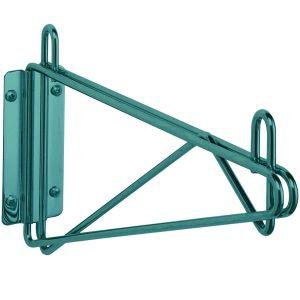 Кронштейн настенный одинарный крайний для полки глубиной 355мм, сталь с покрытием Metroseal3-Microban, для влажных помещений