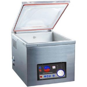 Машина для вакуумной упаковки, настольная, 1 камера 370х320х175(135)мм, электромех.управление, 1 шов 300мм, насос 10м3/ч, газонаполнение