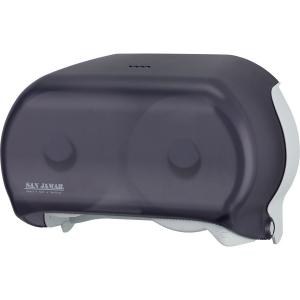 Диспенсер для туалетной бумаги на 2 рулона настенный пластик, черный