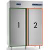 Шкаф комбинированный, GN2/1, 1400л, 2 двери глухие, 6 полок, ножки, -2/+8С и -18/-20С, дин.охл., нерж.сталь
