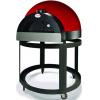Печь дровяная, 1 камера, под 0.58м2 камень сплошной вращающ., термометр инфракрасный, купол красный, дверь сталь, подставка
