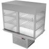Витрина холодильная встраиваемая, L1.10м, 2 полки решетчатые, закрытая, +4/+8С, дин.охл., LED подсветка