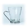Чашка 235мл для кофе (капучино) с металлической подставкой, стекло