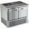 Стол холодильный саладетта, GN1/1, L1.00м, без борта, 2 двери глухие, ножки, -2/+10С, нерж.сталь, дин.охл., агрегат нижний, гнездо 5GN1/3, без крышки