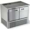 Стол холодильный саладетта, GN1/1, L1.00м, без борта, 2  двери глухие, ножки, +2/+10С, нерж.сталь, дин.охл., агрегат нижний, гнездо 5GN1/6, без крышки