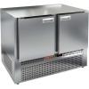 Стол морозильный, GN2/3, L1.00м, б/столешницы, 2 двери глухие, ножки, -10/-18С, нерж.сталь, дин.охл., агрегат нижний