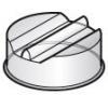 Крышка для 8SISP*45, D330мм, поликарбонат, линия GISELF Interior