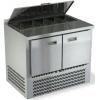 Стол холодильный саладетта, GN2/3, L1.00м, борт H50мм, 2 двери глухие, ножки, +2/+10С, нерж. сталь, дин. охл., агрегат нижний, гнездо 5GN1/3, крышка