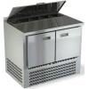 Стол холодильный саладетта, GN2/3, L1.00м, борт H50мм, 2 двери глухие, ножки, +2/+10С, нерж. сталь, дин. охл., агрегат нижний, гнездо 5GN1/6, крышка