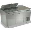 Стол холодильный саладетта, GN1/1, L1.39м, борт H50мм, 2 двери глухие, +2/+10С, нерж.сталь, дин.охл., агрегат справа, гнездо 5GN1/3-100, крышка
