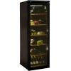 Шкаф холодильный для вина, 1 дверь стекло, 6 полок, ножки, +4/+18С, стат.охл., коричневый