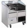 Прилавок передвижной, д/нагляд.кулинарии, вместимость 2 агрегата 380В; 4GN1/9-65, 2 подставки д/GN1/9, 2 охлаждаемых ящика
