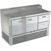 Стол холодильный д/пиццы, GN1/1, L1.49м, 2 двери глухие+2ящика, ножки, +2/+10С, нерж.сталь, дин.охл., агрегат нижний, короб 7GN1/6