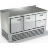 Стол холодильный, GN1/1, L1.49м, борт H50мм, 2 двери глухие+2ящика, ножки, -2/+10С, нерж.сталь, дин.охл., агрегат нижний