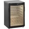 Шкаф холодильный д/вина,  22 бут. (92л), 1 дверь стекло, 4 полки, ножки, +2/+10С, стат.охл., чёрный, R600a