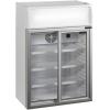 Шкаф холодильный д/напитков (минибар), 100л, 2 двери стекло, 3 полки, ножки, +2/+10С, стат.охл.+вент., белый, канапе, R600a