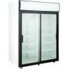 Шкаф холодильный, 1000л, 2 двери-купе стекло, 10 полок, ножки, +1/+10С, дин.охл., белый, канапе, LED